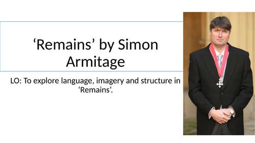 Remains by Simon Armitage fully annotated lesson AQA GCSE Literature paper 2
