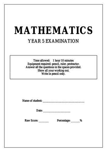 Year 5 Maths Test