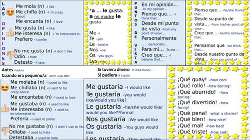 Get your opinions right -Spanish