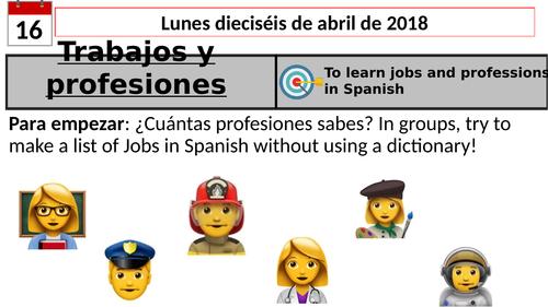 Los trabajos -Jobs (Spanish)