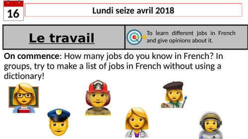 Jobs -French KS3