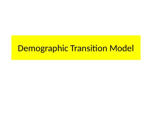 Demography Transition Model