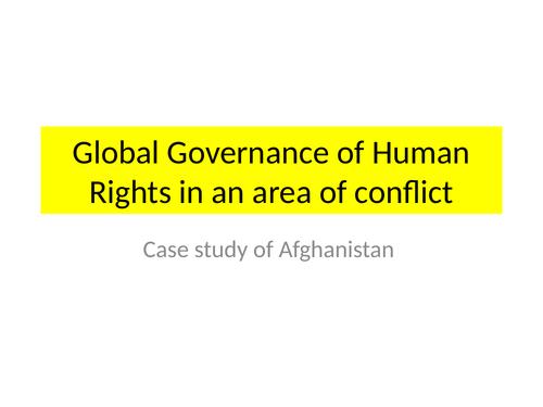Global governance in Afghanistan
