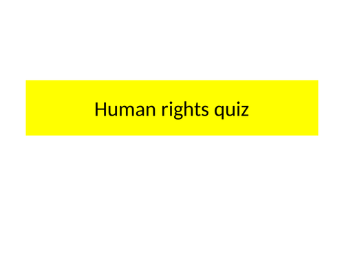 AS/A2 OCR human rights end of topic quiz