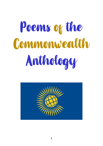 Poetry of the Commonwealth (An Anthology)