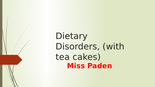 dietary disorders lesson