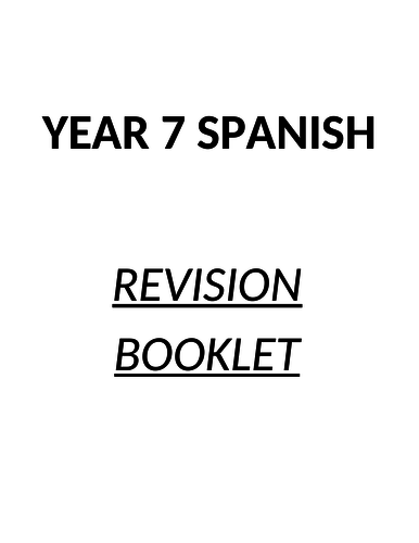 Spanish Year 7 - 5 end of year booklets - great for the last weeks