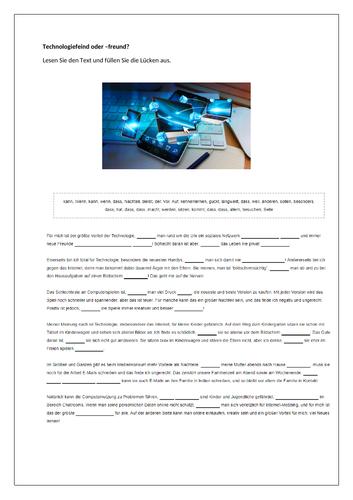Vor- und Nachteile der Technologie / Dis/advantages of technology / Internet