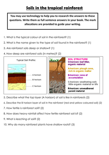 AQA GCSE Geography 3.1.2.2  9 fully resourced lessons on Tropical Rainforests