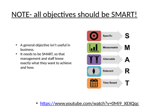 Introduction to SMART objectives setting