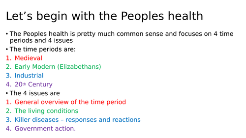 People's Health Revision Activity Booklet