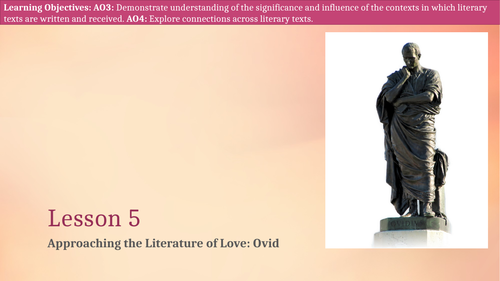 Introduction to love, loss and sex in Ovid's famous texts