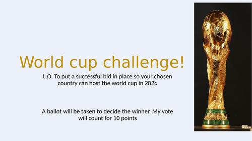 World cup bid challenge