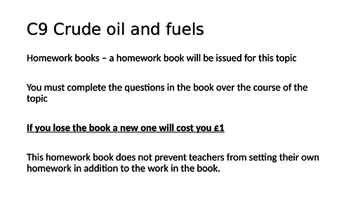 AQA C9 Crude oil and fuels - all lessons