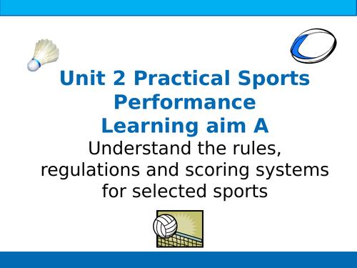 BTEC Sport Unit 2 Practical Sports Performance