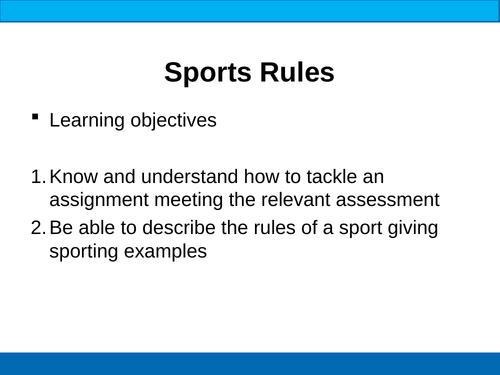 BTEC Sport Rules, Regulations & Officials
