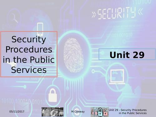 L3 - BTEC Public Services - Unit 29 - Security Procedures in the Public Services - Assignment 1