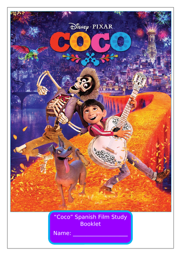 Spanish Film Booklet Worksheets Disney's Coco