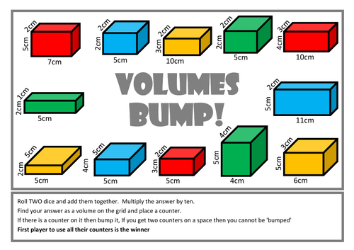 area of rectangles and volume of cuboids - (Bump Games ...