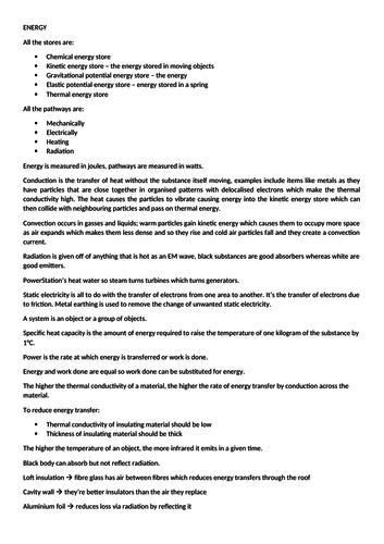 AQA Physics 9-1 Notes