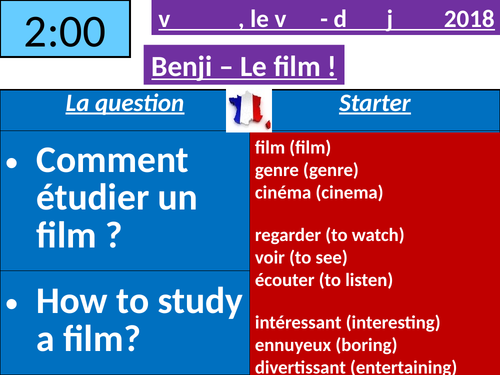 Benji le film - French film study