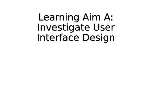 BTEC Digital Information Technology Comp 1 Learning Aim A