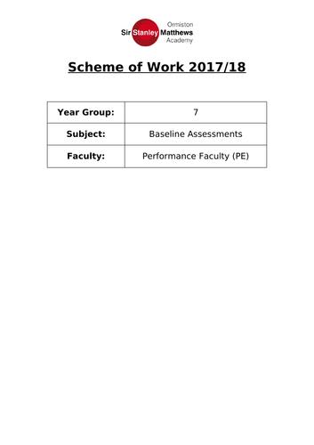Scheme of Work - Year 7 PE Baseline