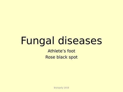 Diseases caused by fungi lesson