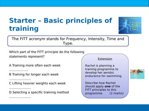 BTEC Sport Unit 5 Principles of Training