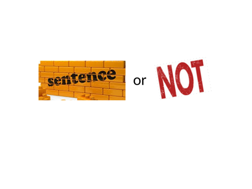 Sentence or not? A KS1 lesson encouraging children to write sentences that make sense
