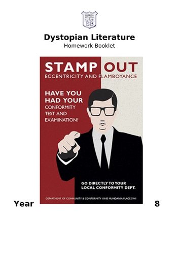 Dystopian Homework Booklet