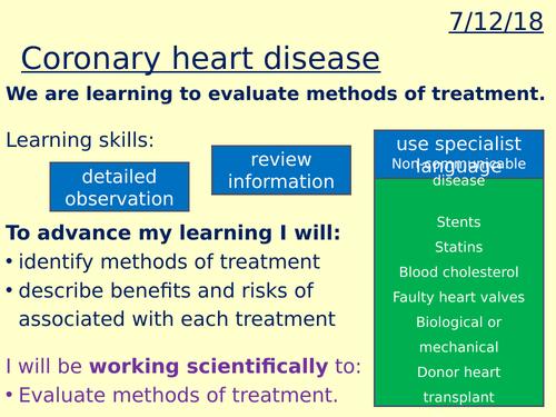 Coronary heart disease lesson
