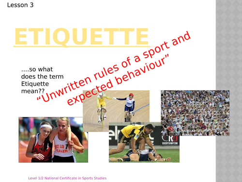 OCR National Certificate in Sports Studies R051 L02 - initiatives power point