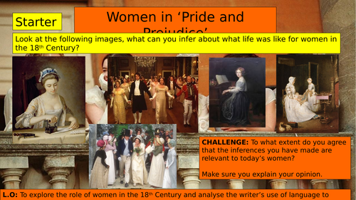 (KS3 7/8/9) Women in 'Pride and Prejudice'
