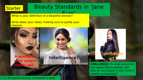 (KS3 7/8/9) Beauty Standard in 'Jane Eyre'