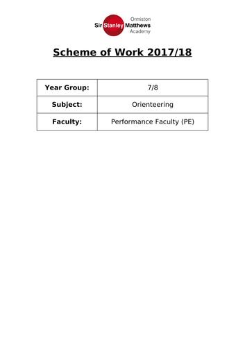 Scheme of work Orienteering