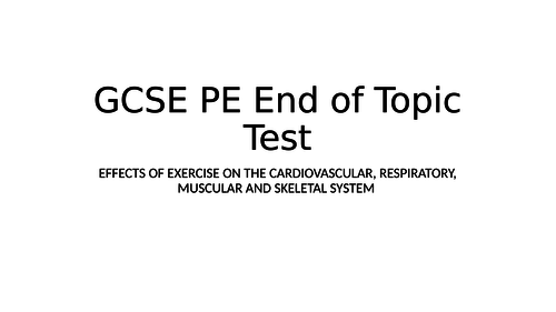 GCSE PE/BTEC Sport test