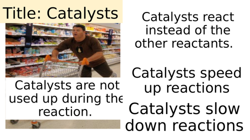 Key Stage 3, Introduction to Catalysts