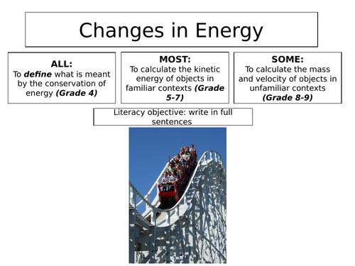 2018 AQA GCSE Physics Unit 1 (P1): Kinetic Energy L1