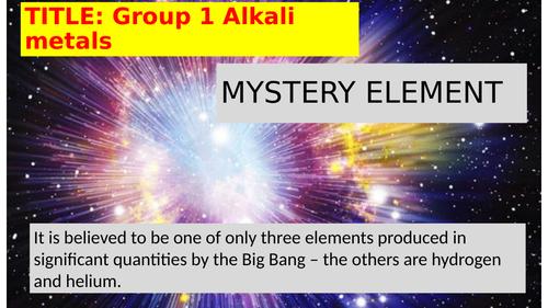 Group 1 Alkali Metals Practicals