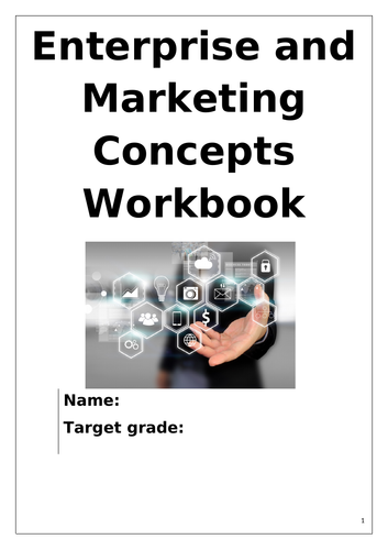 R064 Cambridge Nationals L1/2 Marketing and Enterprise Workbook