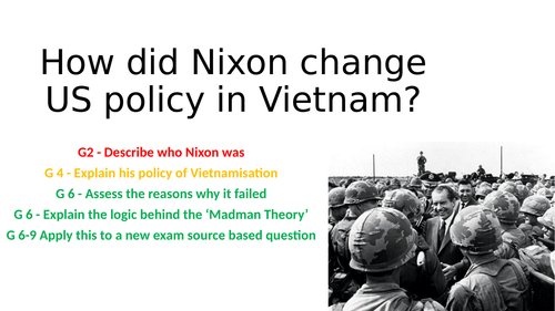 How did Nixon change US policy in Vietnam?