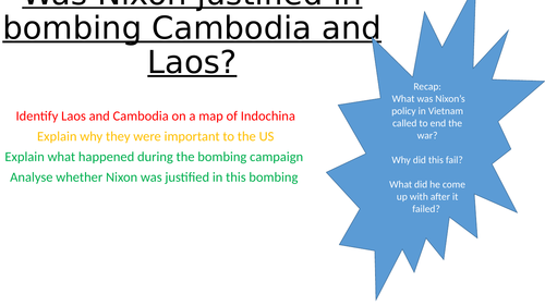 Was Nixon justified in bombing Cambodia and Laos?