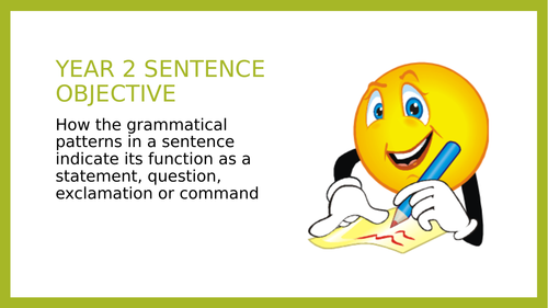 Year 2 SPAG PPT and Assessment: Sentence Types