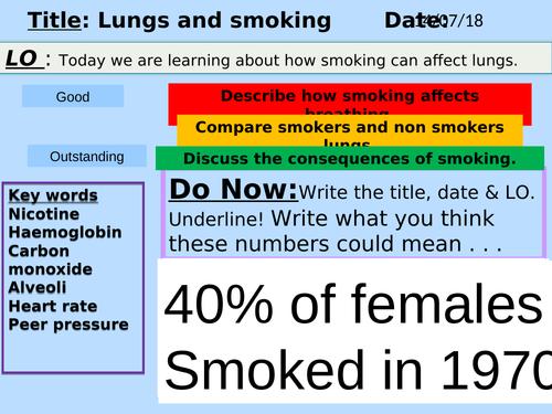 Smoking, Lesson Powerpoint