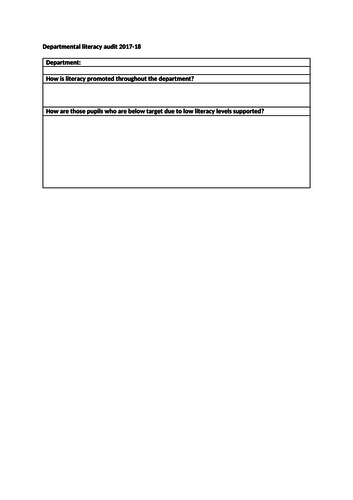 Blank literacy audit