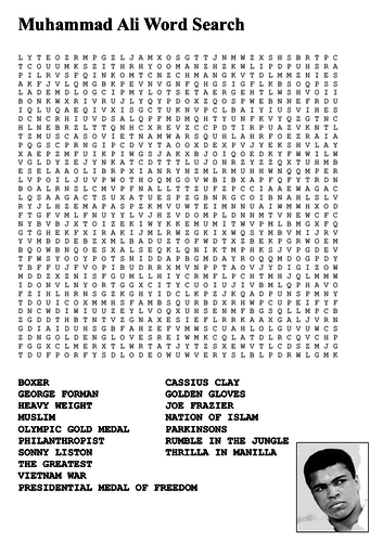 Muhammad Ali Word Search