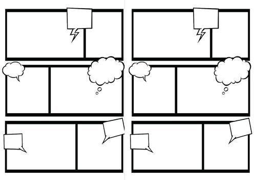 Double comic strip template
