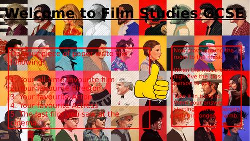 Eduqas GCSE (9-1) Film Studies introductory unit (horror genre) as lead into comp 3. Lesson 1