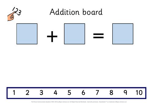 Visual addition board